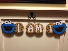 "Sesame Street Cookie Monster Milk and Cookie ""HAPPY BIRTHDAY""  High Chair Banner. $8.00, via Etsy."