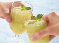 Mojito Slush (3 cups water 1 cup sugar 3/4 cup fresh lime juice (from ...