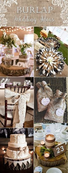 country rustic lace and burlap wedding ideas: by bernice