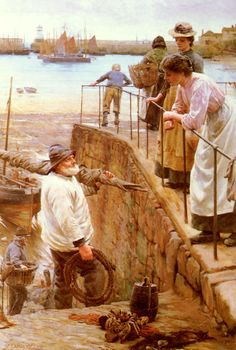 Walter Langley__Between The Tides Founder of the Newlyn School
