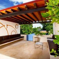 Terraza Planta Alta: Terrazas de estilo Mediterráneo por Taller Estilo Arquitectura