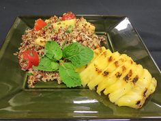 Pineapple Quinoa Salad - Take quinoa from ordinary to extraordinary by adding sweet grilled pineapple, tomatoes and fresh herbs.
