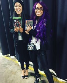 "Bayley and Sasha Banks love it NEW WWE video games ""That Cool! Wwe Pictures, Wwe Photos, Wrestling Divas, Women's Wrestling, The Boss Wwe, Bailey Wwe, Wwe Events, Carmella Wwe, Wwe Raw And Smackdown"