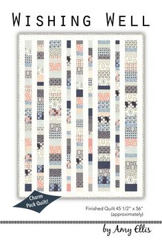 Wishing Well - Charm Pack Baby Quilt Pattern by Amy Ellis #showmethemoda - AmysCreativeSide.com:
