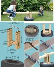 10 diy outdoor toys for kids- craft tutorials and free plans to build these fun toys for big kids. Keep your backyard fresh with these creative ideas! Kids Outdoor Play, Backyard For Kids, Outdoor Toys, Outdoor Fun, Backyard Playground, Backyard Games, Playground Ideas, Diy Spa, Outdoor Projects