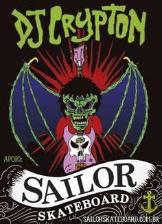 Adesivo #SailorSkateboard - Collab DjCrypton