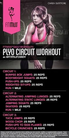 Bad ass plyo cardio workout by Fitmiss Fitness Workouts, Plyo Workouts, Fitness Motivation, Plyometric Workout, Plyometrics, Quick Workouts, Body Workouts, Killer Leg Workouts, Hitt Workout