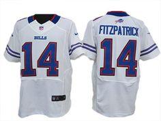 White Fitzpatrick Bills Elite #14 Jersey