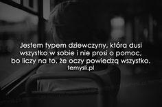 Jestem typem dziewczyny, która...
