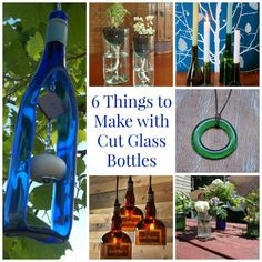 6 Things to Make With Cut Glass Bottles