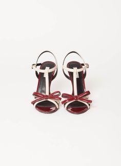 Prada | F/W 2010 Bi-Colour T-Strap Sandals | RESEE