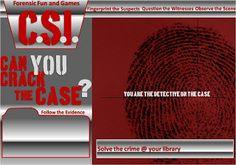 What a fun sounding YA program!     Follow the evidence CSI mystery