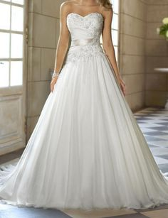 2014 New White/Ivory Organza Wedding Dress Bridal Gown by VEIL8, $149.00