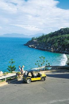 Magnetic Island, eight kilometres from Townsville has dramatic island coastline. The vehicle, a Mini Moke, is Magnet Island icon. Hire one to blatt around in! Places Around The World, Oh The Places You'll Go, Cool Places To Visit, Places To Travel, Travel Destinations, Brisbane Queensland, Queensland Australia, Australia Travel, Great Barrier Reef