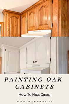Learn to Fill Woodgrain: Insider Tips From a Pro FREE Video tutorial on the easiest way to fill open wood grain in cabinets and furniture NO PUTTY KNIFE NEEDED! Learn tips and tricks from a pro! Refinish Kitchen Cabinets, Painting Kitchen Cabinets, Kitchen Paint, Kitchen Redo, Kitchen Remodel, Kitchen Design, Updating Oak Cabinets, Oak Cabinet Makeover Kitchen, Staining Wood Cabinets