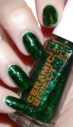 Layla Ceramic Effect 54 Green Galaxy