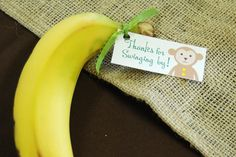 Jungle Monkey  Baby Shower Favor Tags  Set of 38 by erinink, $10.00