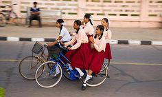 Life is like riding a bicycle... #india #bicycle #schoolgirls