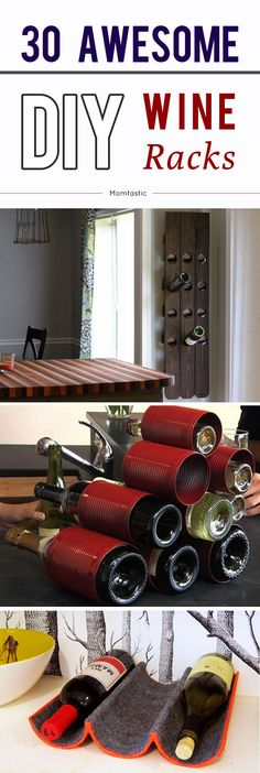 30 awesome DIY wine racks!