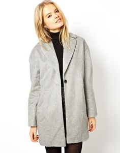 ASOS Fluffy Cocoon Coat