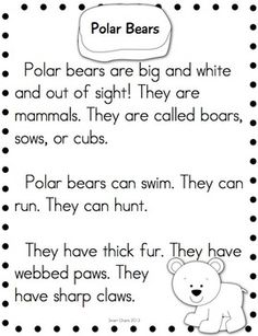 ARCTIC ANIMALS RESEARCH READING - TeachersPayTeachers.com
