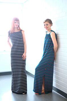 Knitted summer dress Stripes - KAINO Knitwear SS13 Striped Dress, Knitwear, High Neck Dress, Stripes, Summer Dresses, Collection, Fashion, Turtleneck Dress, Moda