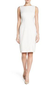 1e9b59ef8a7ed Halogen® Seam Detail Sheath Dress (Regular   Petite) Little White Dresses