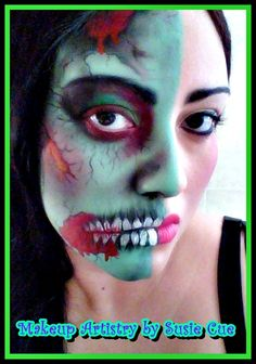 Zombie Halloween makeup  **All images copyrighted not to be used without art permission for any reason** https://www.facebook.com/MakeupforMyVividDream