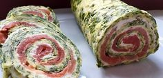 823677-960x720-lachs-spinat-rolle Appetizers For Party, Appetizer Recipes, Slovak Recipes, No Salt Recipes, Fast Dinners, Baked Chips, Roasted Almonds, Seafood Dishes, Hors D'oeuvres