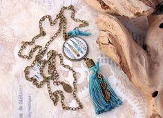 Charm- & Bettelketten - Kette Boho Style ♥ Hippie ♥ Feder - ein Designerstück von Lunas-SchmuckART bei DaWanda