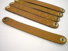 Personalized leather bracelets. You were really special if your junior high boyfriend gave you his to wear.