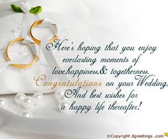 Happy wedding day to a very special couple Wedding Congratulations Wishes, Wedding Wishes Quotes, Wedding Poems, Wedding Cards, Wedding Invitations, Marriage Anniversary Cards, Anniversary Quotes For Couple, Wedding Anniversary Photos, Aniversary Wishes