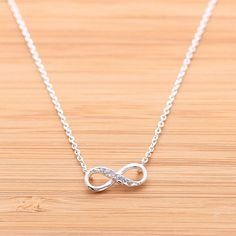 infinity necklace with cz $17