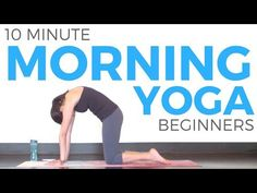 10 minute Morning Yoga for Beginners - YouTube