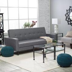 Belham Living Charcoal Convertible Sofa Bed 282