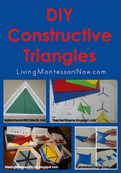 Montessori Monday – DIY Constructive Triangles -- 2nd pinner comment: There are LOTS of really cool and useful things in this pin!!
