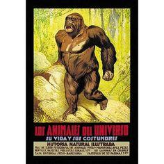 Buyenlarge 'Los Animales del Universo' Vintage Advertisement
