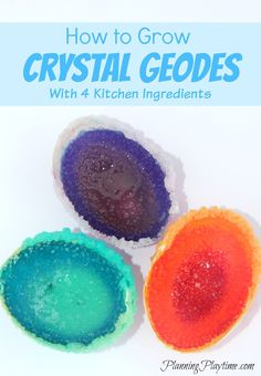 How to Grow your own Salt Crystal Geodes with a few ingredients from your kitchen