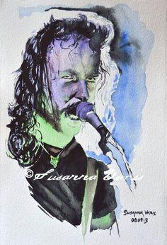 James Hetfield by Susanna Varis water color 2010