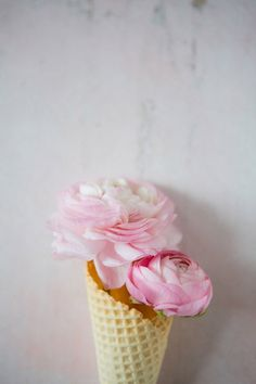 Ranunculus & Ice Cream Cones..... the beauty of