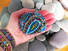 Circus Gypsy / Painted River Rock / Greece/ Sandi Pike Foundas. $50.00, via Etsy.