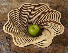 make a fruit bowl with scroll saw - Yahoo Hasil Image Search Laser Art, Laser Cut Wood, Laser Cutting, Laser Cutter Ideas, Laser Cutter Projects, Router Projects, Woodworking Projects, Cnc Router, 3d Laser Printer