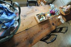 """This is what I want my farmhouse table to look like at any given time.  (I'd really like for my life to look like """"SouleMama's"""" but I'll settle for the scene at her farmhouse table.)"""