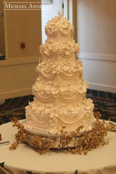 Flowers Galore Wedding Cake - (michael-angelos-bakery.myshopify)