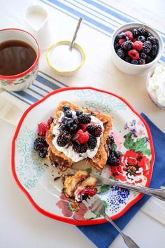 Nutella Stuffed Berry French Toast