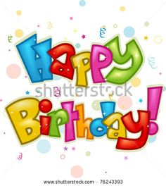 Text Featuring the Words Happy Birthday - stock vector