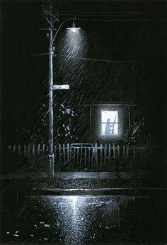 A Step Behind, gouache on paper, 1997 (Shaun Tan)