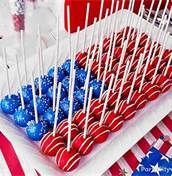 An American Flag out of cake pops?! Adorable! Fourth Of July Party Ideas - Bing Images