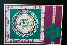 Carte stampin up  Beauté orientale  in color