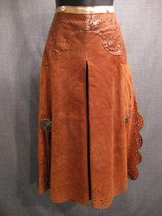 Riding Pants Women's Western 1880s, brown suede leather